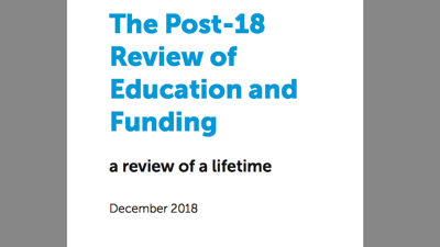 The Review of Post-18 Education and Funding