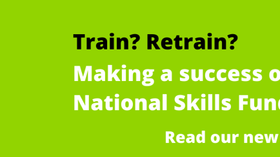 Making a Success of the National Skills Fund